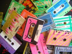 Aesthetically pleasing Sharpie'd cassette tapes!