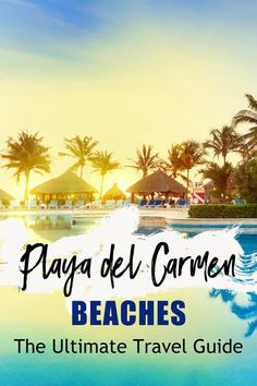 This list of beaches in Playa del Carmen will help you pick the best beach to relax in Playa. Our list includes a few insider secret spots + 5 beach clubs! Destin Beach, Beach Trip, Beach Travel, Maui Vacation, Beach Vacations, Cool Places To Visit, Places To Go, Tulum Ruins, Horseshoes