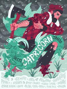 Capricorn, the winter warrior
