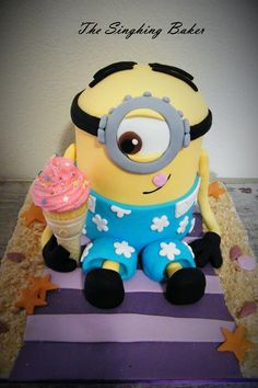 Minion Cake by The Singhing Baker, Cape Town, South Africa. You'll find this Cake Appreciation Society Member in our Directory at www.cakeappreciationsociety.com