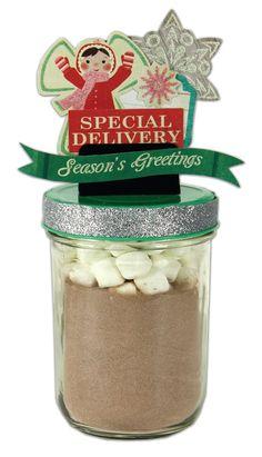 Crafts Direct Project Idea: Special Delivery Jar - using the @Tara Cramer Cricket Show Topper jar lid