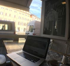 My Italian office is open for business.