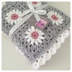 Off to its new home (Disclaimer: not my pattern I don't design or sell patterns. It is the daisy square by Tillie Tulip freely available on her blog. edging is my own creation) by littledovecrochet