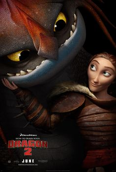 How to Train Your Dragon 2 I loved this pair- her dragon reminded me of an owl!