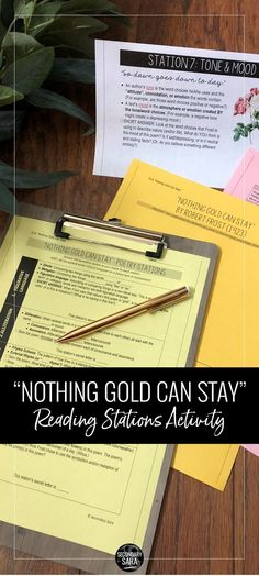 nothing gold can stay summary