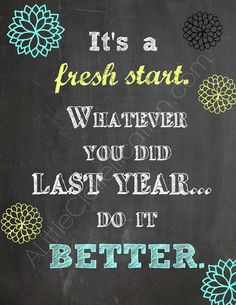 Fresh Start! Free Printable at ALittleClaireification.com #printables #free #NewYear