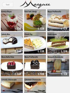 Desserts on iPad menu. FineDine Tablet Restaurant Menus