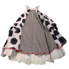 Petit Lem Dots and Stripes Dress look at the back of this!