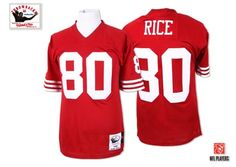 abfeac5a53d (Authentic Mitchell and Ness Men's Jerry Rice Red Jersey) San Francisco  Home NFL Throwback Autographed Easy Returns.