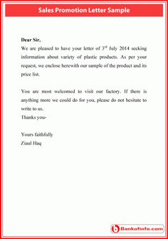 sales promotion letter sample types of lettering free samples letter sample sale promotion