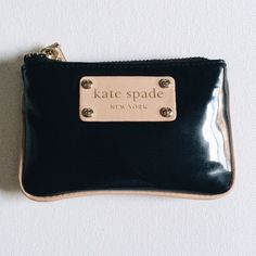 Kate Spade Coin Purse Black Kate Spade Coin Purse. Very useful and looks great with any purse. I will not take any offers for this. kate spade Bags Wallets