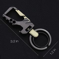 Fencher key chain bottle opener with (2 Extra key rings and Gift Box) heavy duty car keychain for Man and Women
