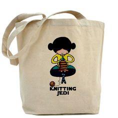 Knitting Jedi Tote Bag  $17.00