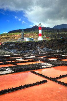 Las Salinas de Fuencaliente en La Palma, Spain