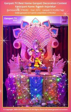 Rupesh Anjarlekar Home Ganpati Picture 2014. View more pictures and videos of Ganpati Decoration at www.ganpati.tv