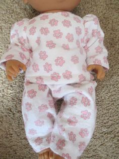 """Baby Alive Doll Clothe 2 PC PJ Jammies Outfit 12 13"""" Dolls 