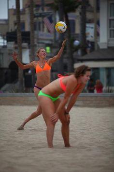 Beach Volleyball...in Jolyn Swimwear