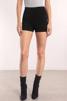 Clothing, Shoes & Accessories Shorts HUE Black Polka Dot Print Pique Boyfriend Shorts MSRP $34