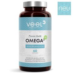 Omega 3 Kapseln Vegan mit Vitamin E – Ohne ekligen Fischgeschmack | Algen-Öl hoc Vitamin E, Shampoo, Personal Care, Food, Ebay, Seaweed, Good Ideas, Pisces, Products
