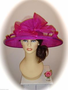 88432c32 Gwyther Snoxell Hat, Magenta + Jewels, Mother of Bride Wedding Occasion  Ascot Magenta,