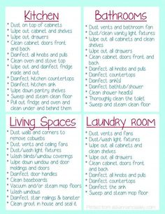 A Check List For What To Clean In Your House Before You Move In {FREE