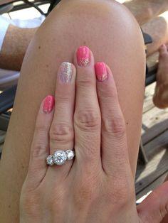 Shower/bachelorette nails