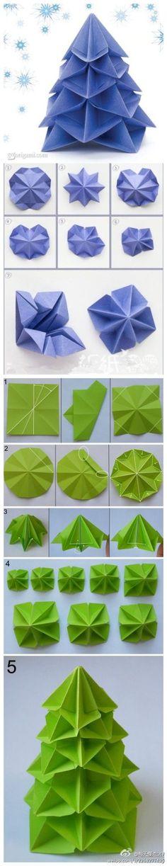 Origami christmas tree by perla marie