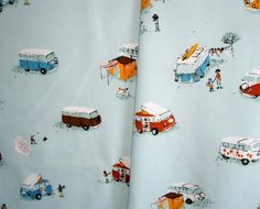 Heather Ross  VW Buses Fabric! Way cute!