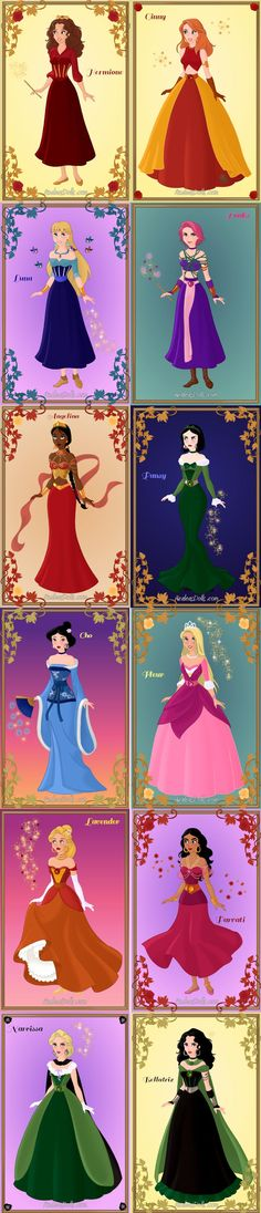 Harry Potter witches as Disney-style characters!