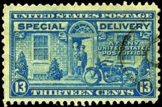 "USPS special delivery stamp - Special delivery for ""urgent mail"" was eliminated in 1997"