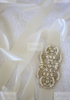 Crystal & Pearl Bridal Sash Belt -  Dianna wedding sash , crystal sash , beaded sash