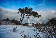 Hiddensee im Winter Leuchtturm Dornbusch von Robert Ott