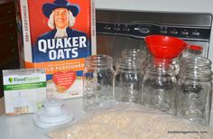 I have ten reasons why you should buy and store oatmeal in your food storage stash. It's inexpensive for one thing and has many health benefits. Emergency Food Storage, Canned Food Storage, Emergency Supplies, Survival Food, Survival Prepping, Emergency Preparedness, Oatmeal In A Jar, Just In Case, Just For You
