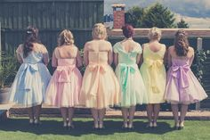 Multicoloured maids in rainbow shades!