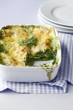 Spinat-Lasagne Rezept verdoppeln und ordentlich Spinat verwenden