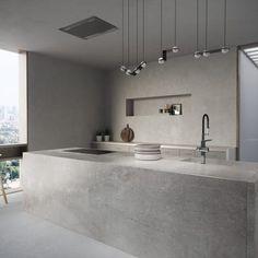 Modern Luxury Kitchens For A Grand Kitchen Luxury Kitchen Design, Luxury Kitchens, Interior Design Living Room, Tuscan Kitchens, Küchen Design, House Design, Concrete Interiors, Concrete Kitchen, Minimalist Home