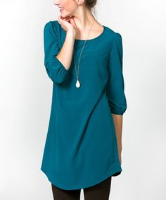 This Teal Tunic is perfect! #zulilyfinds