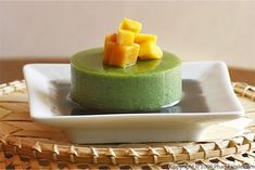 matcha green tea  pudding with sweet black sesame sauce agar agar recipe