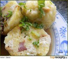 Berlínské špekové knedlíky Czech Recipes, Ethnic Recipes, Dumplings, Gnocchi, Potato Salad, Cauliflower, Side Dishes, Potatoes, Baking