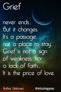 Grief is the price of love