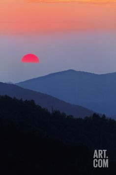 Sunset from Morton Overlook, Great Smoky Mountains National Park, Tennessee, USA Photographic Print at Art.com. looks like one of those japanese paintings