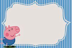 George Pig:  Imprimibles, Invitaciones y Tarjetas Gratis.
