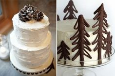 white chocolate winter wedding cakes Tips for Chocolate Wedding Cakes