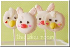 Easter Treats–Bunny and Duck Cookie Pops