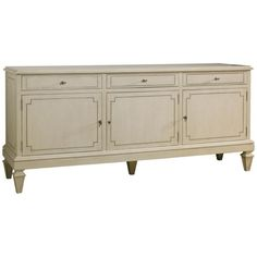 Lillian August, Foster Server, Server, Buffets & Sideboards, Ivory, 3 doors, Wood