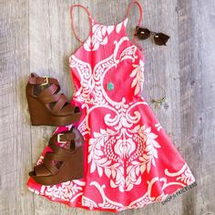 Ireland Dress, minus the shoes. Fashion Mode, Look Fashion, Fashion Outfits, Womens Fashion, Fashion Heels, Fashion Trends, Summer Outfits, Casual Outfits, Cute Outfits