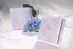 50 Violet Wedding Invitation with Envelope/DIY Personalized