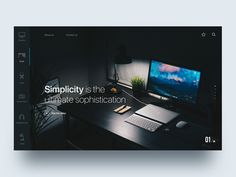 Custom workspace website - Daily UI Challenge 40/365
