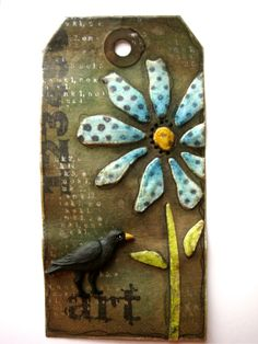 Studio 490: distressed, dimensional stencil art...embossing paste is worth checking out!