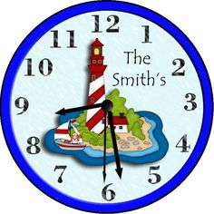 Shop for on Etsy, the place to express your creativity through the buying and selling of handmade and vintage goods. Personalized Clocks, Will Smith, Lighthouse, Unique Jewelry, Handmade Gifts, Wall, Etsy, Design, Home Decor